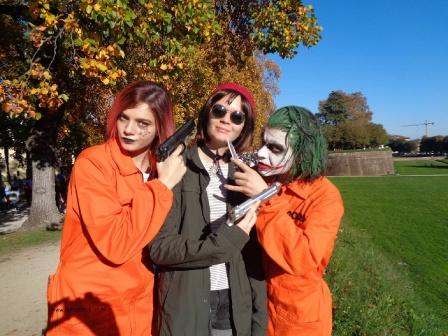 Cosplay Joker orange suit