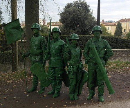 Cosplay Green Plastic Toy Soldiers