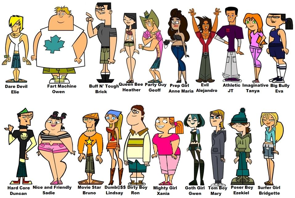 A Tutto Reality - Total Drama - personaggi - personages - cast
