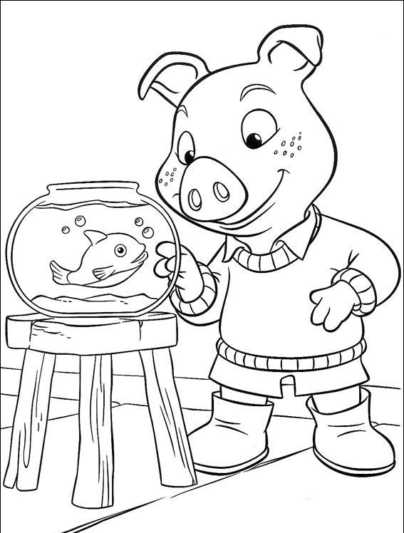 Piggley Winks da colorare - coloring