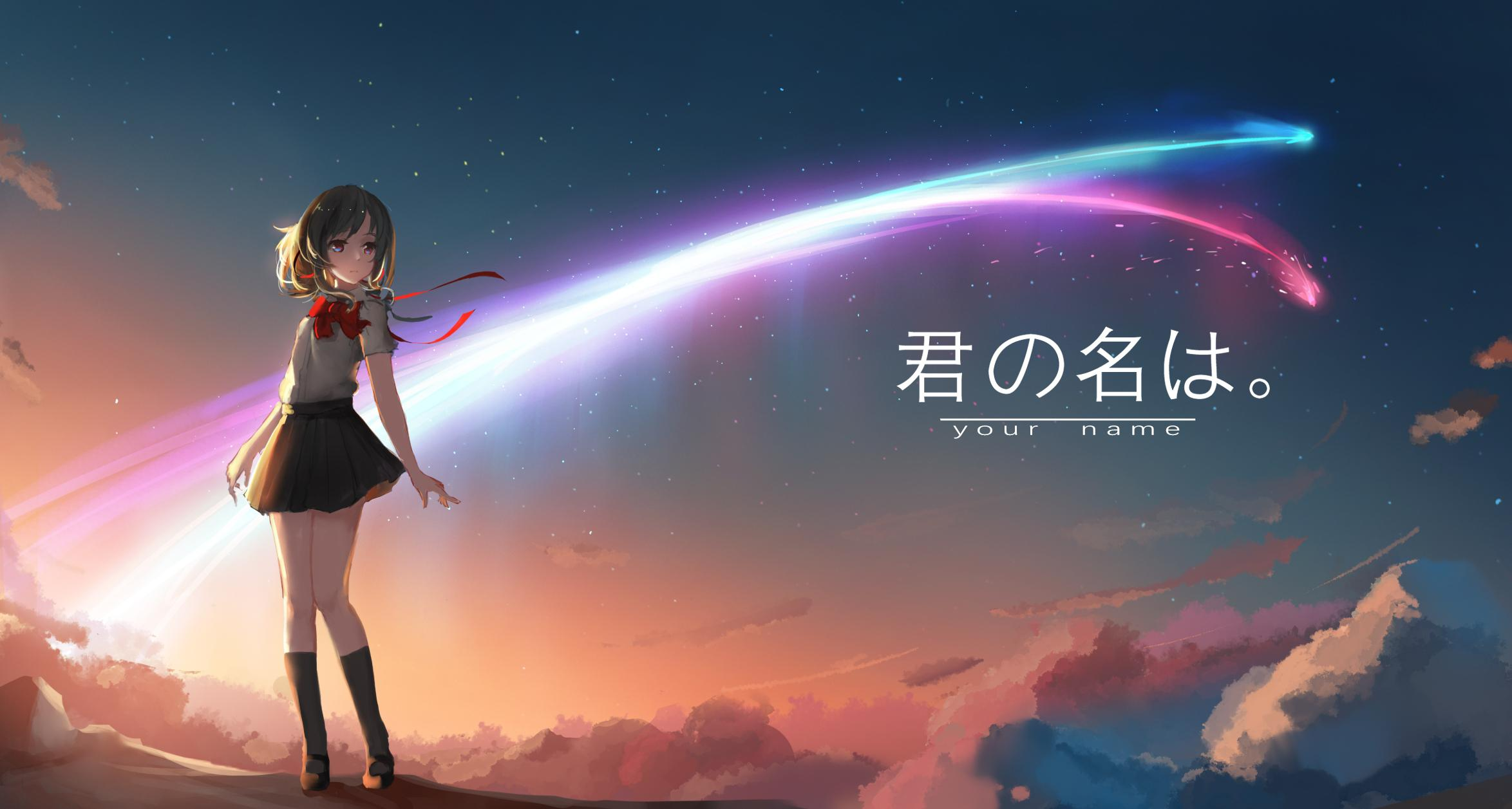 Film Cartoon - Your Name - Kimi no Na wa (love anime story) - Mitsuha - comet Tianmat
