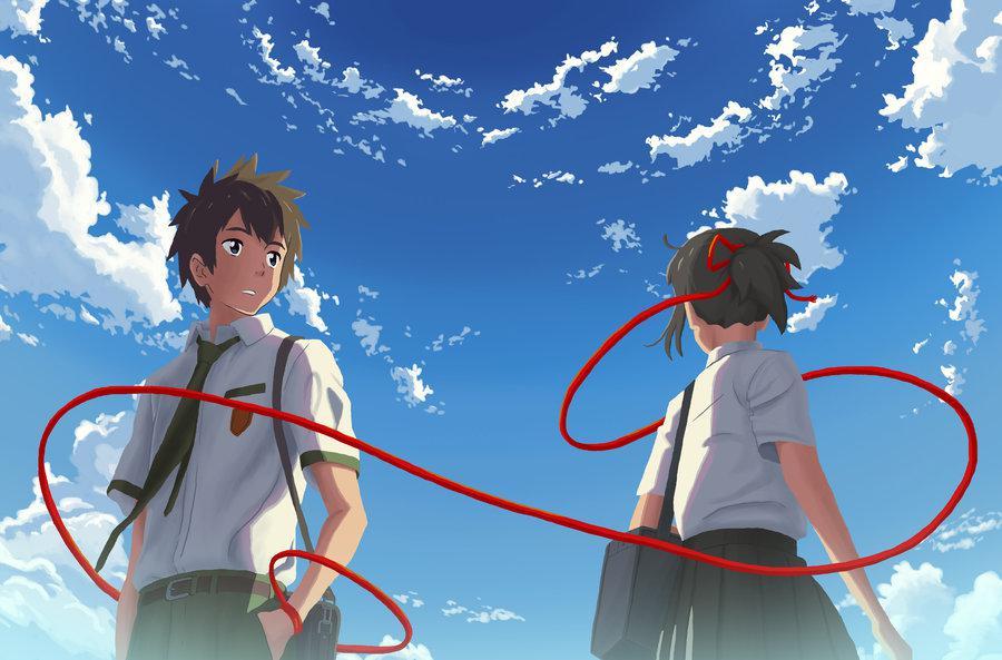 Film Cartoon - Your Name - Kimi no Na wa (love anime story) - Taki e Mitsuha -  kumihimo - intreccio - bracelet