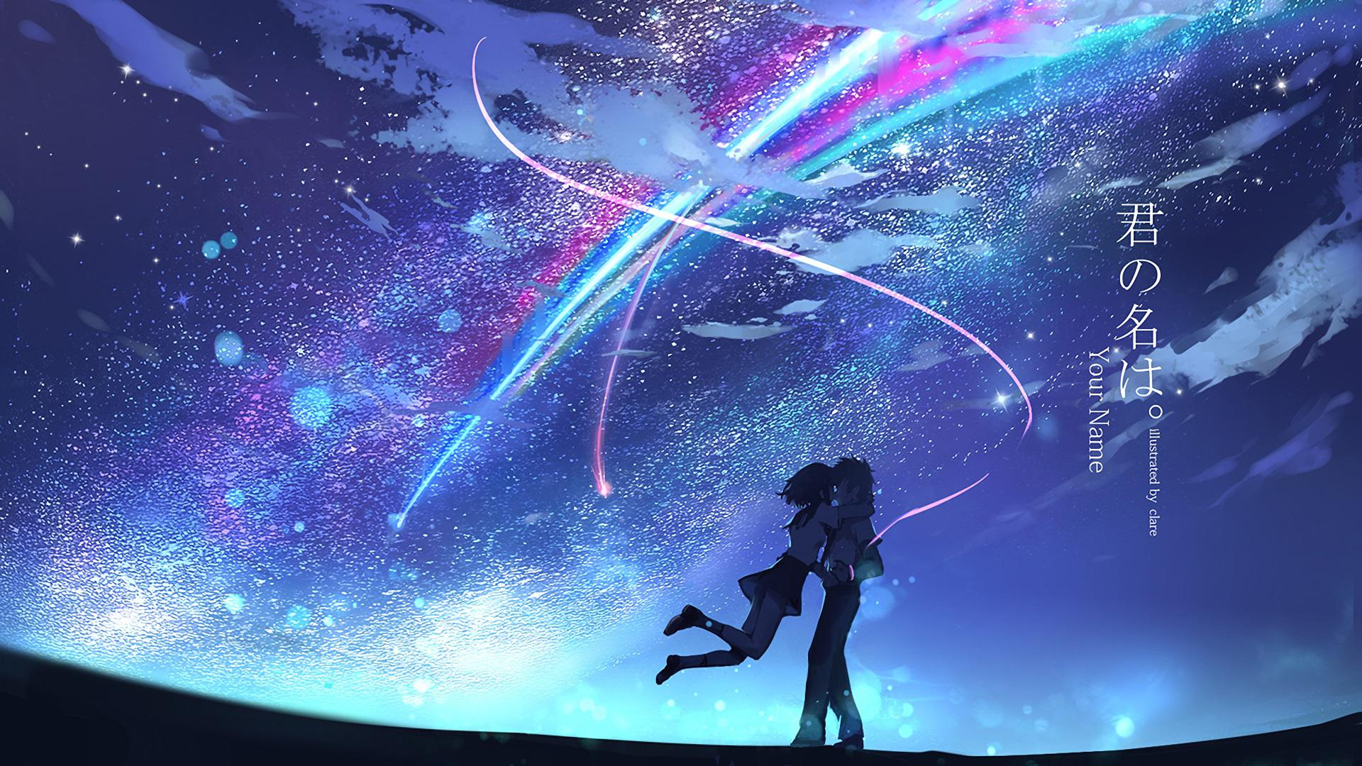 Film Cartoon - Your Name - Kimi no Na wa (love anime story) - Taki e Mitsuha - comet Tianmat