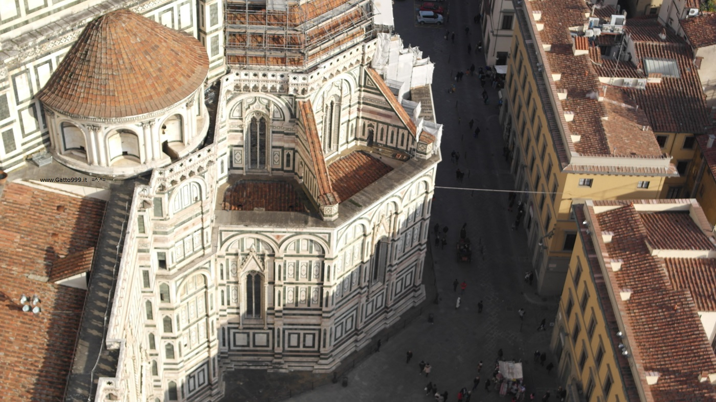 Campanile del Duomo di Firenze, vista panoramica sulla città - Tower Cathedral Florence skyline panorama adventure on the high floor