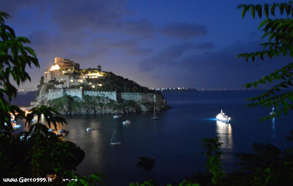 Ischia - Castello Aragonese by night