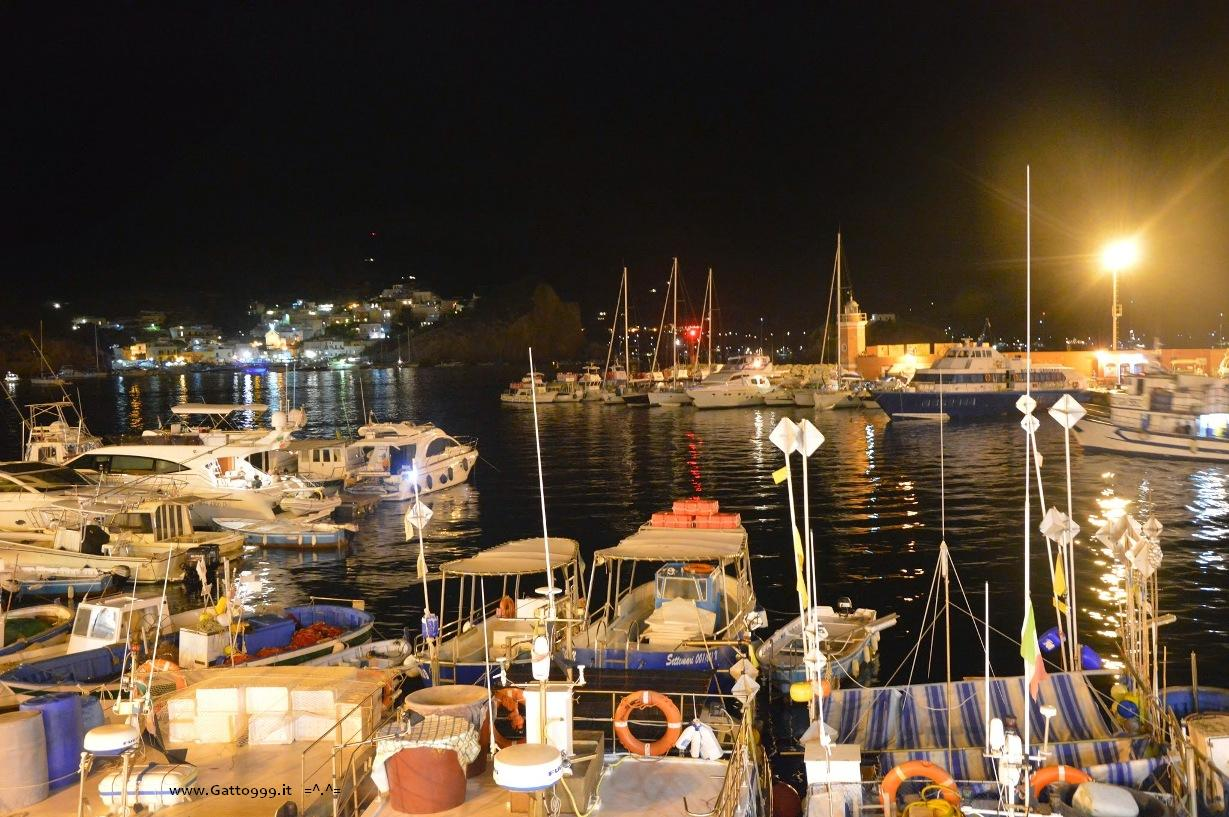 Isola di Ponza (Italy) Porto by night