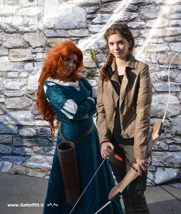 Lucca Comics and Games 2013 - Katniss e Merida (Brave - Ribelle)