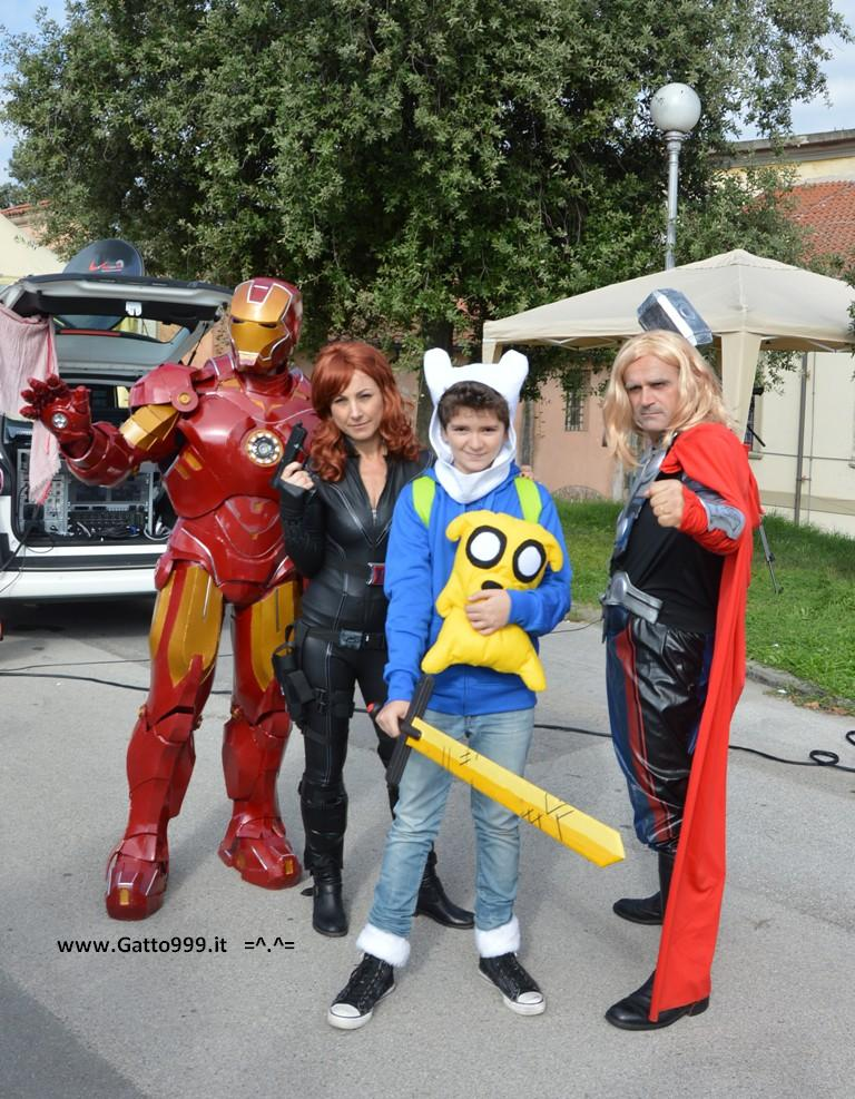 Lucca Comics and Games 2013 - Avengers - Ironman - Thor - Natasha Romanoff Vedova Nera - Marvel (cosplay)