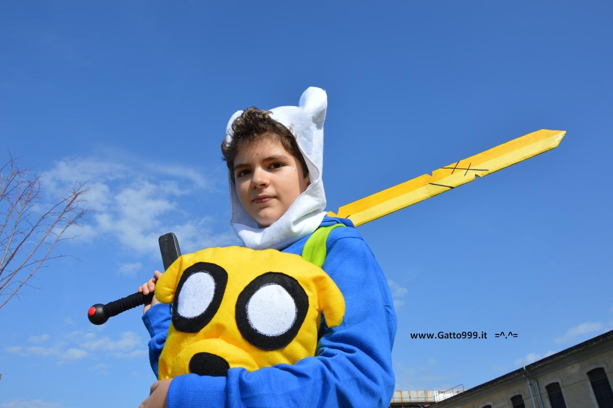 Finn Adventure Time e Jake il Cane Magico (Cosplay)