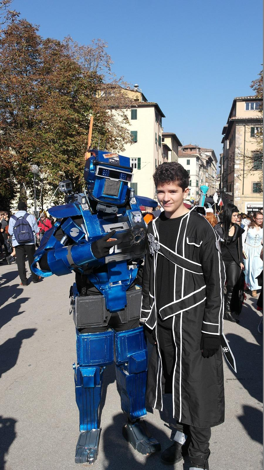 Lucca Comics and Games 2015 - Chappy robot cosplay
