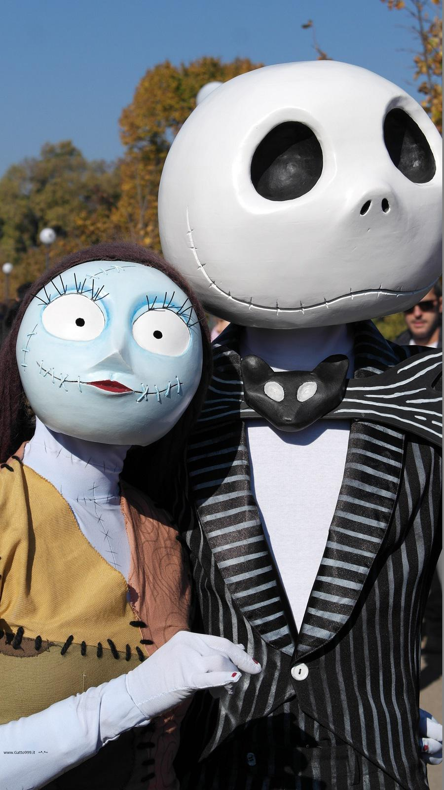 Lucca Comics and Games 2015 - Nightmare Before Christmas Cosplay Jack Skeletron and Sally Cosplay