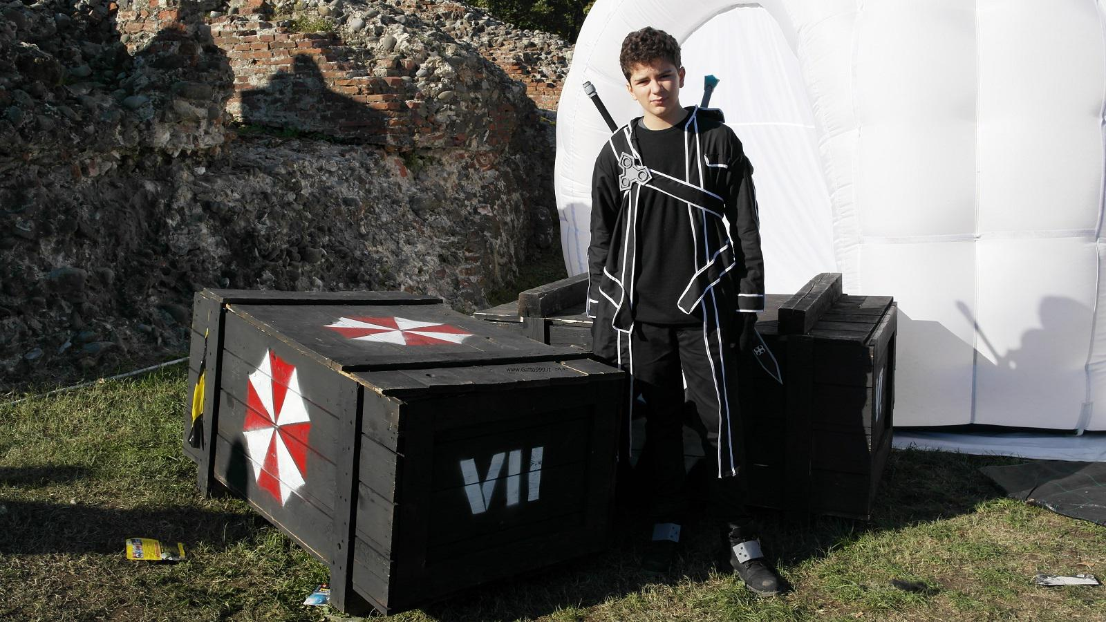Lucca Comics and Games 2015 - Cosplay Kirito Sword Art Online  -  Umbrella corp.