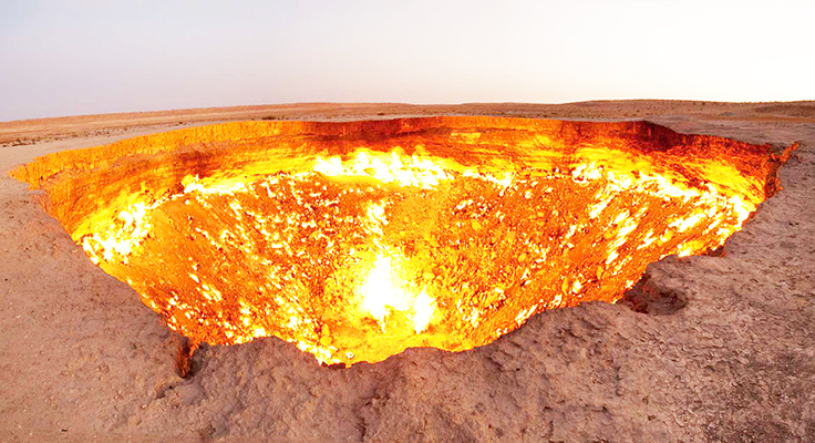 Map 1000 crazy places to see - The door to hell Turkmenistan