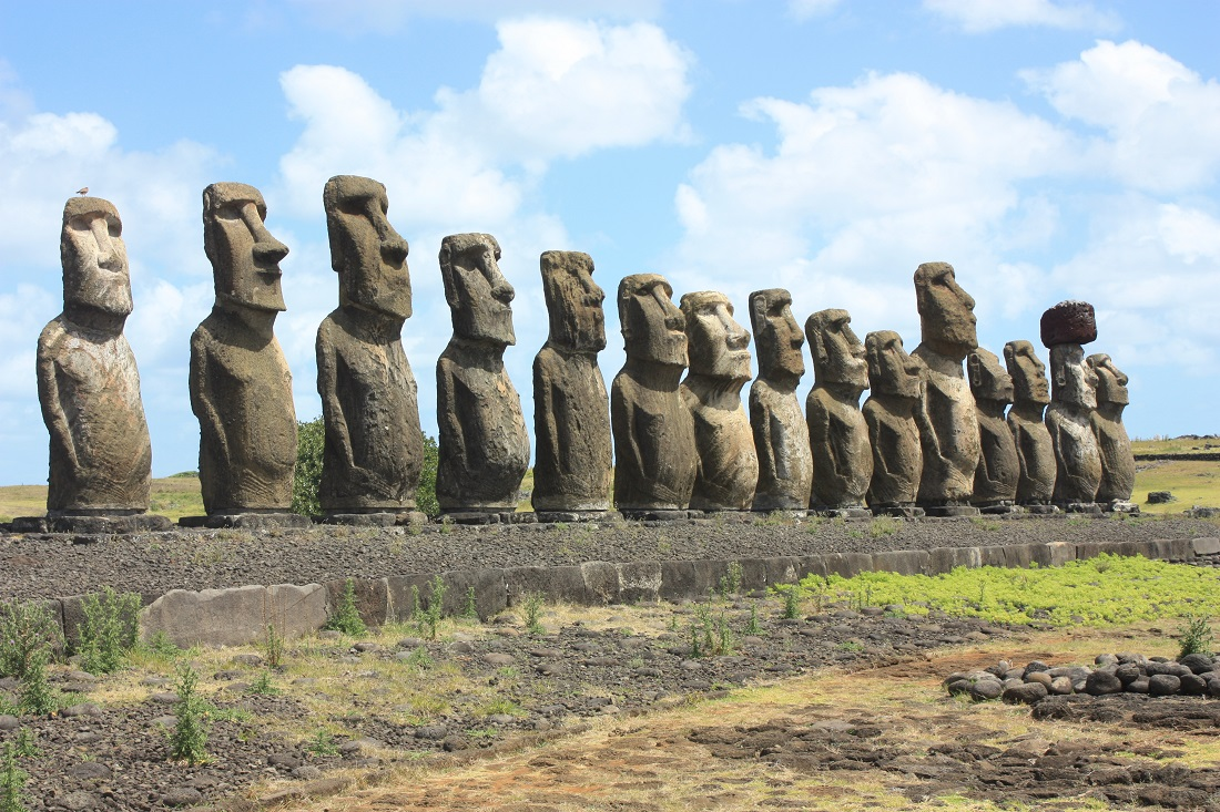 Map 1000 crazy places to see - Tongariki - RapaNui Moai