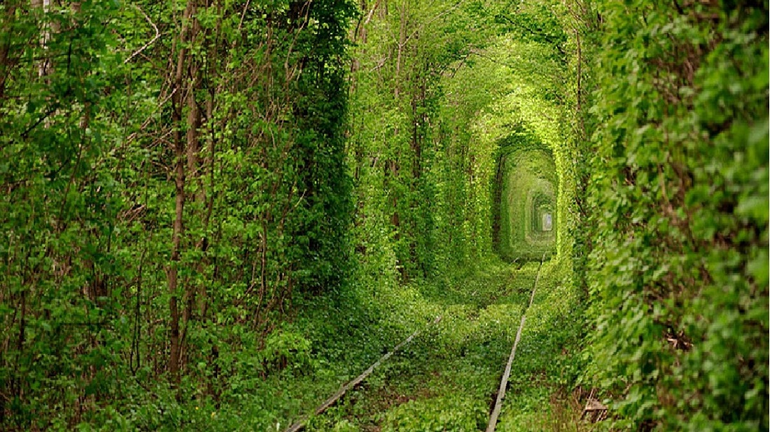 Map 1000 crazy places to see - Tunel' Kohannia the Tunnel of Love