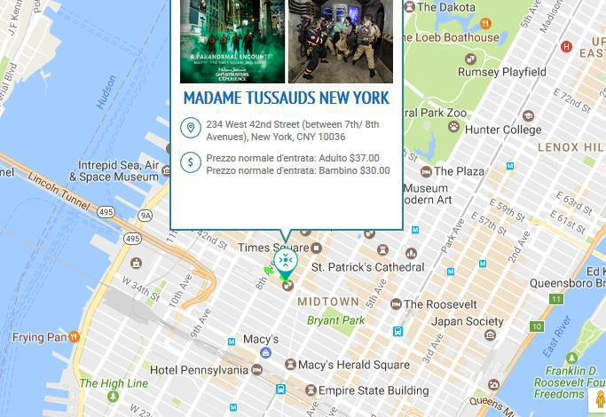 New York - Museo delle Cere Madame Tussauds (234 W 42nd Street)