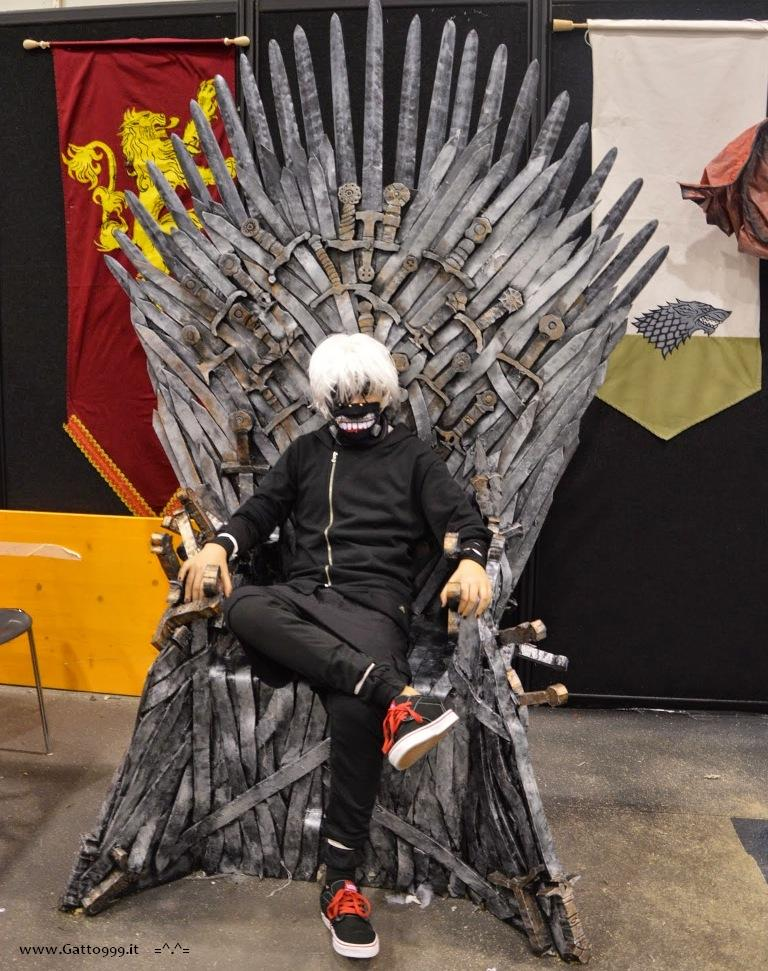 Romics 2015 - Tokyo Ghoul cosplay mask Kaneki - Game of Thrones