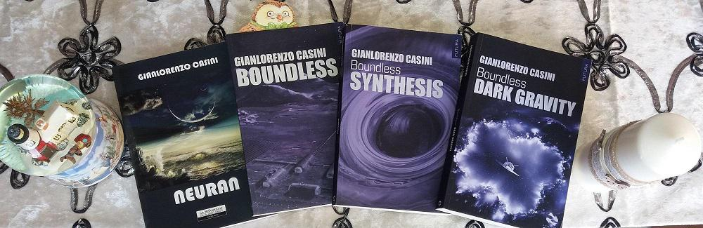 Saga libri avventure astronave Explorer - Neuran - Boundless - Boundless Synthesis - Boundless Dark Gravity di Gianlorenzo Casini