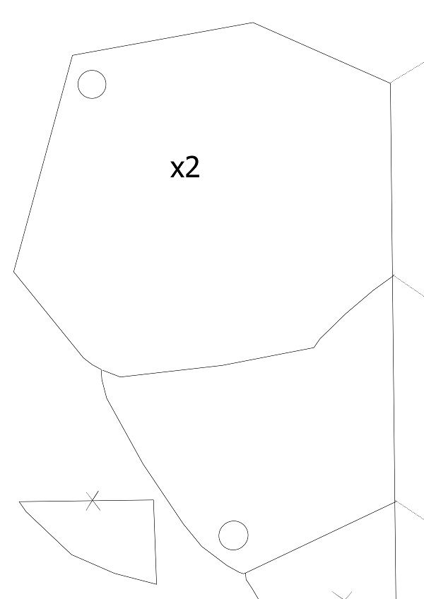 Goblin Slayer Cosplay Costume pattern ... body chest