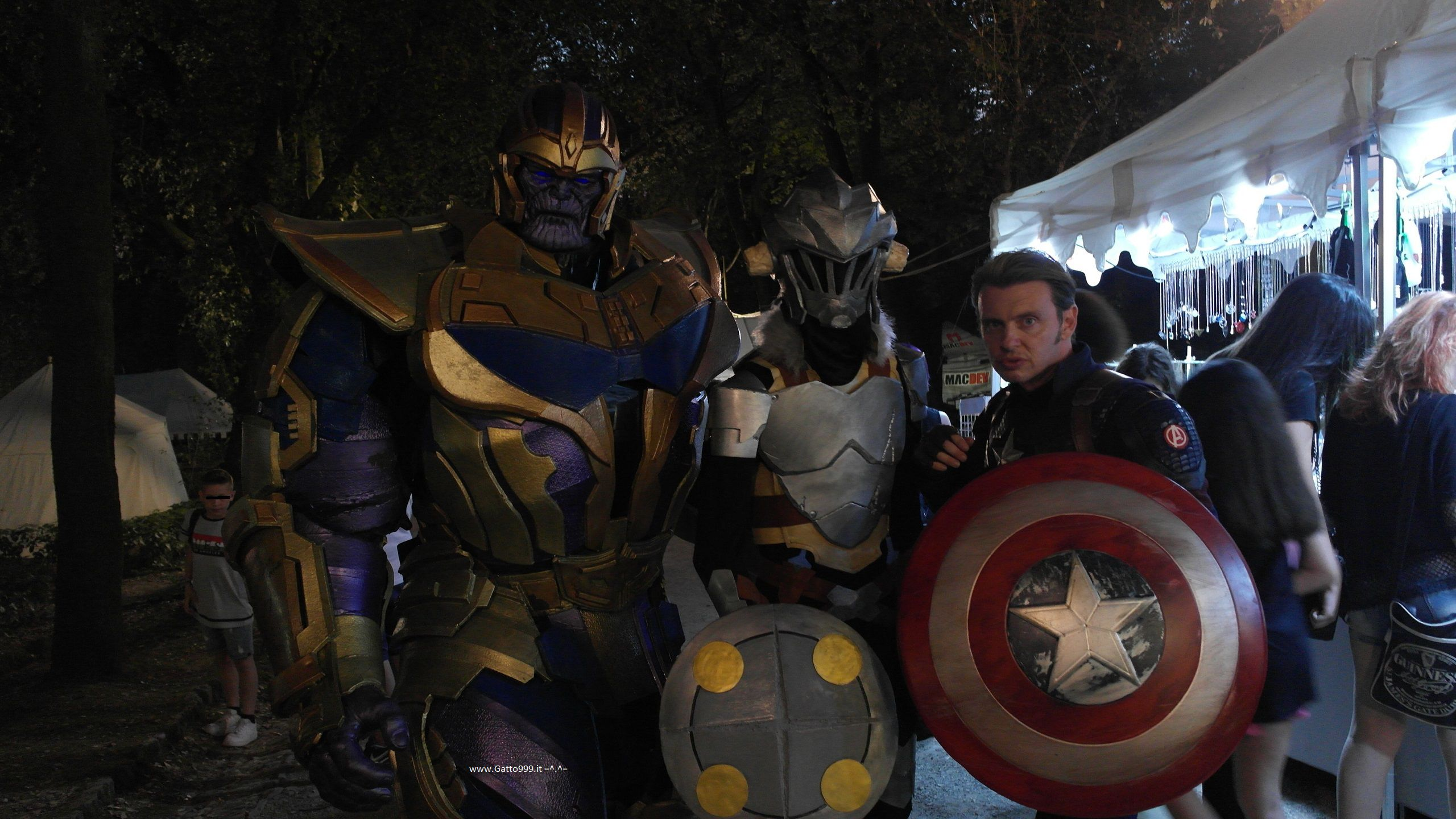 Goblin Slayer cosplay   with Tanos & Captain America