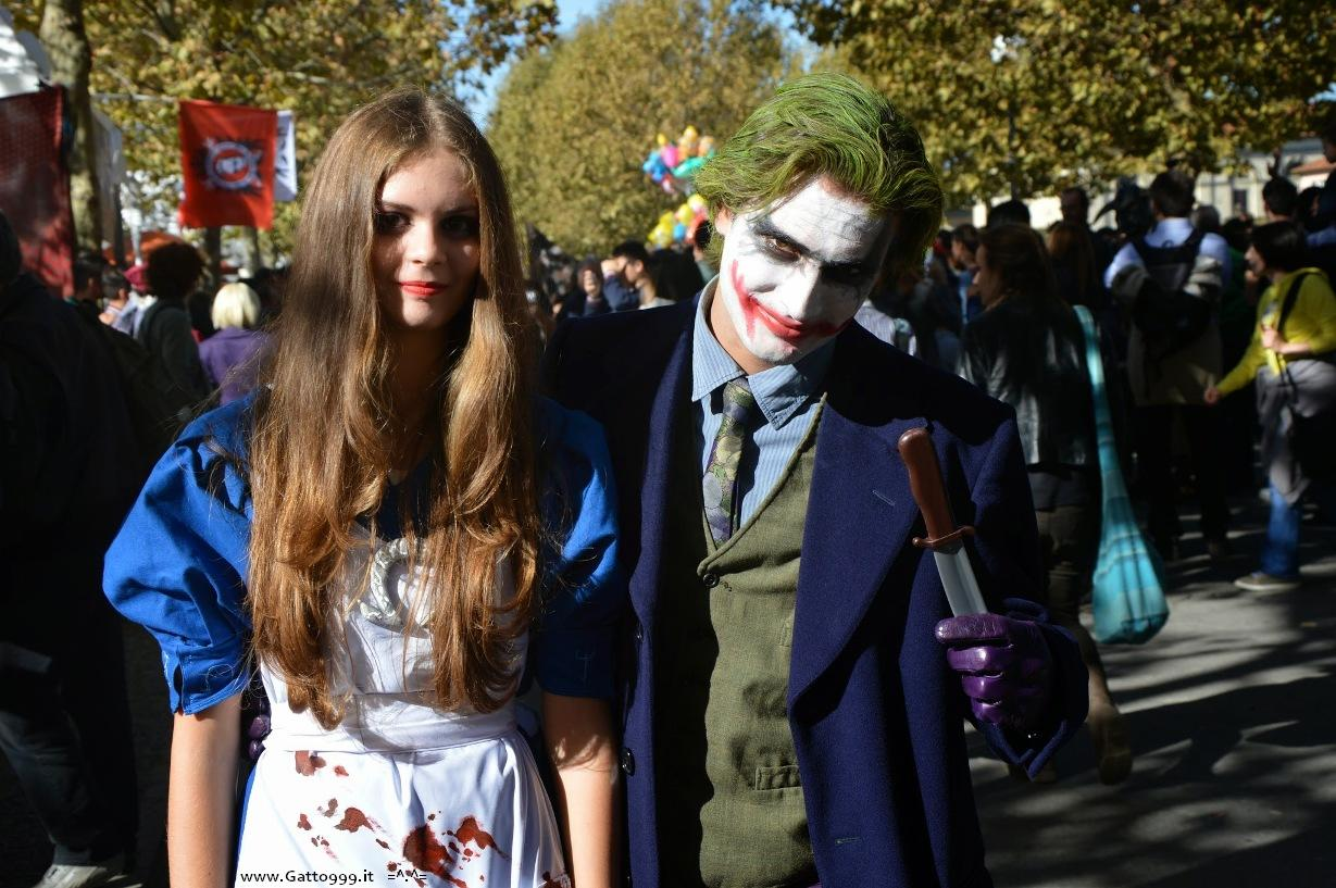 Cosplay Joker e Alice McGee Madness Return - Lucca Comics 2014