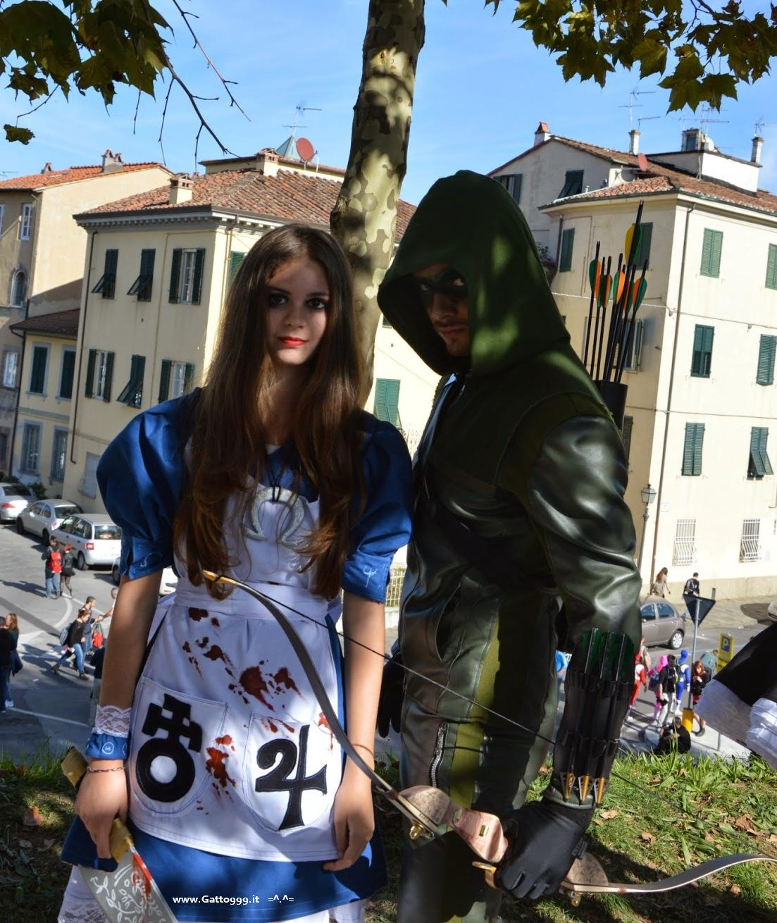 Cosplay Arrow e Alice McGee Madness Return - Lucca Comics 2014