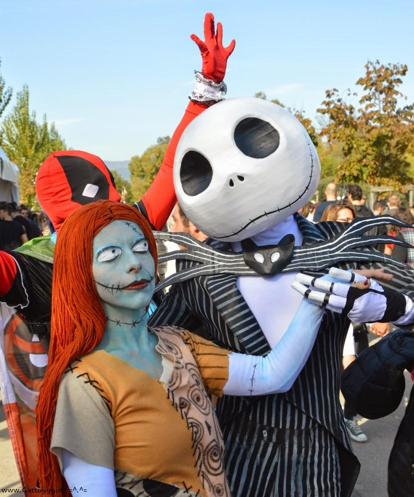Cosplay omaggio a Tim Burton's The Nightmare Before Christmas - Lucca Comics 2014