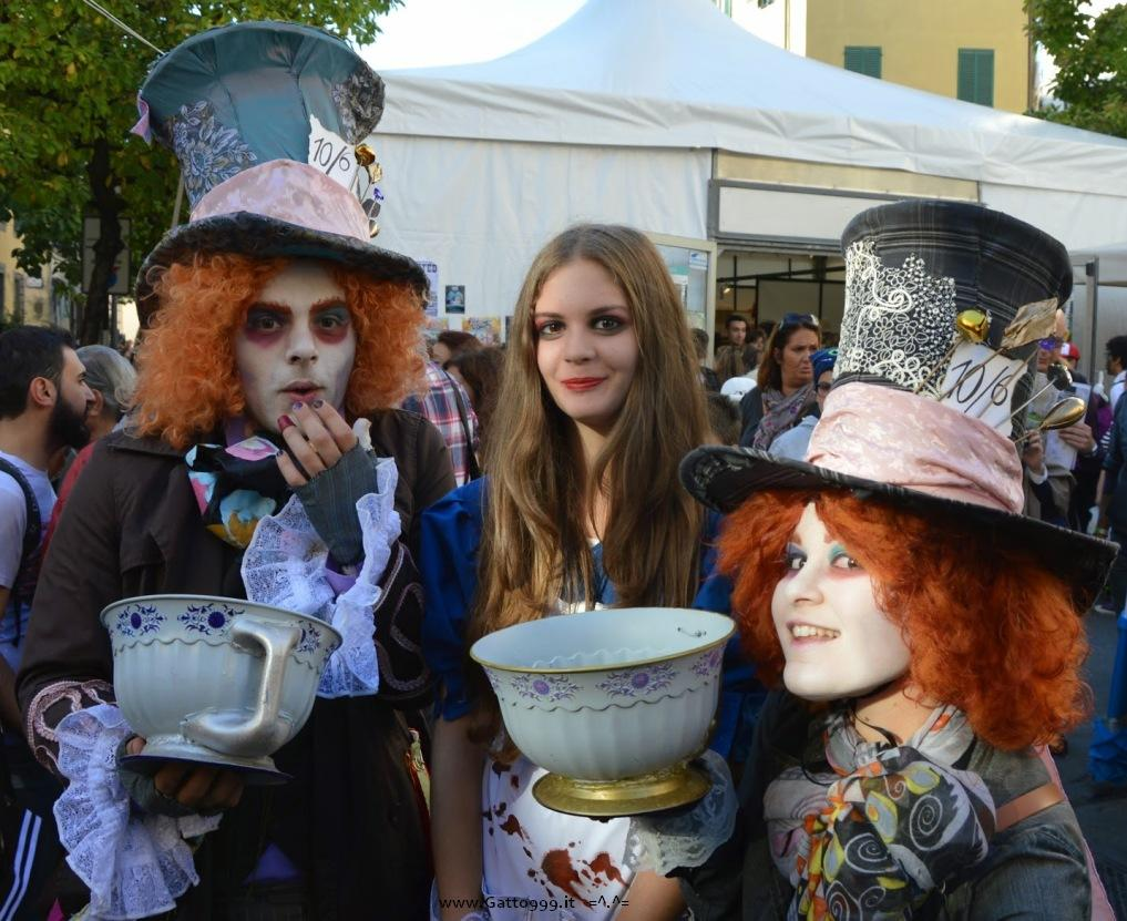 Cosplay due Cappellai matti (Hatter Hatters) e Alice McGee Madness Return - Lucca Comics 2014