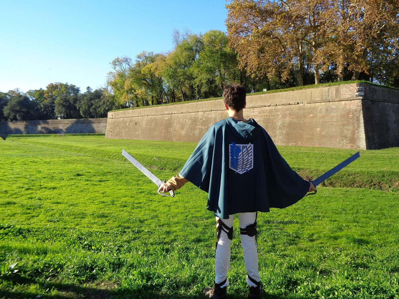 Cosplay Eren from Attack on Titan - Shingeki no kyojin - Wall Maria in Lucca