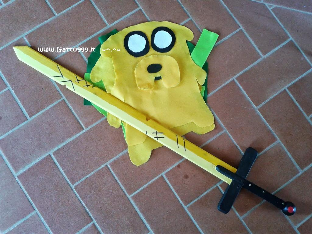 Sword Finn Adventure Time self made at home, easy howto, play for child