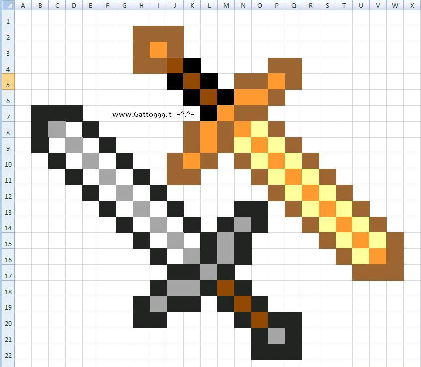 come costruire la Spada Minecraft per cosplay - howto create minecraft sword instructions - manual
