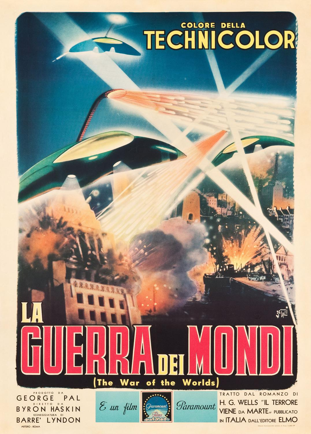 Guerra dei Mondi - War of the Worlds 1953 - poster
