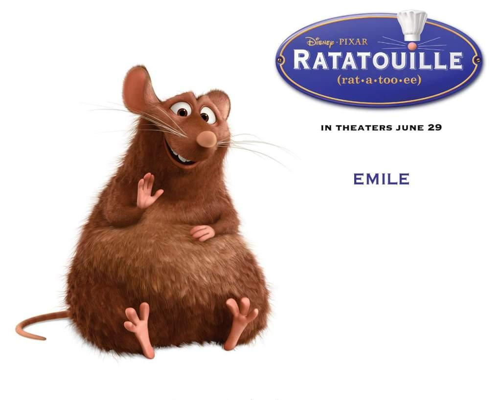 Ratatouille - Rat Emile - Mouse Emile
