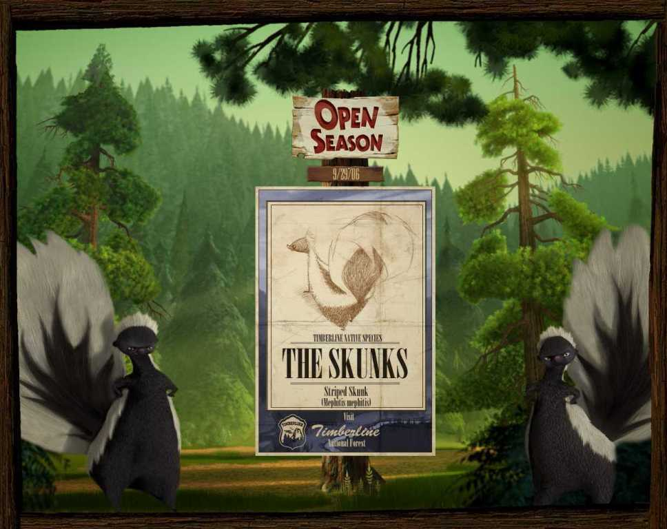 Boog e Elliot (Open Season) - The Skunks - Puzzole
