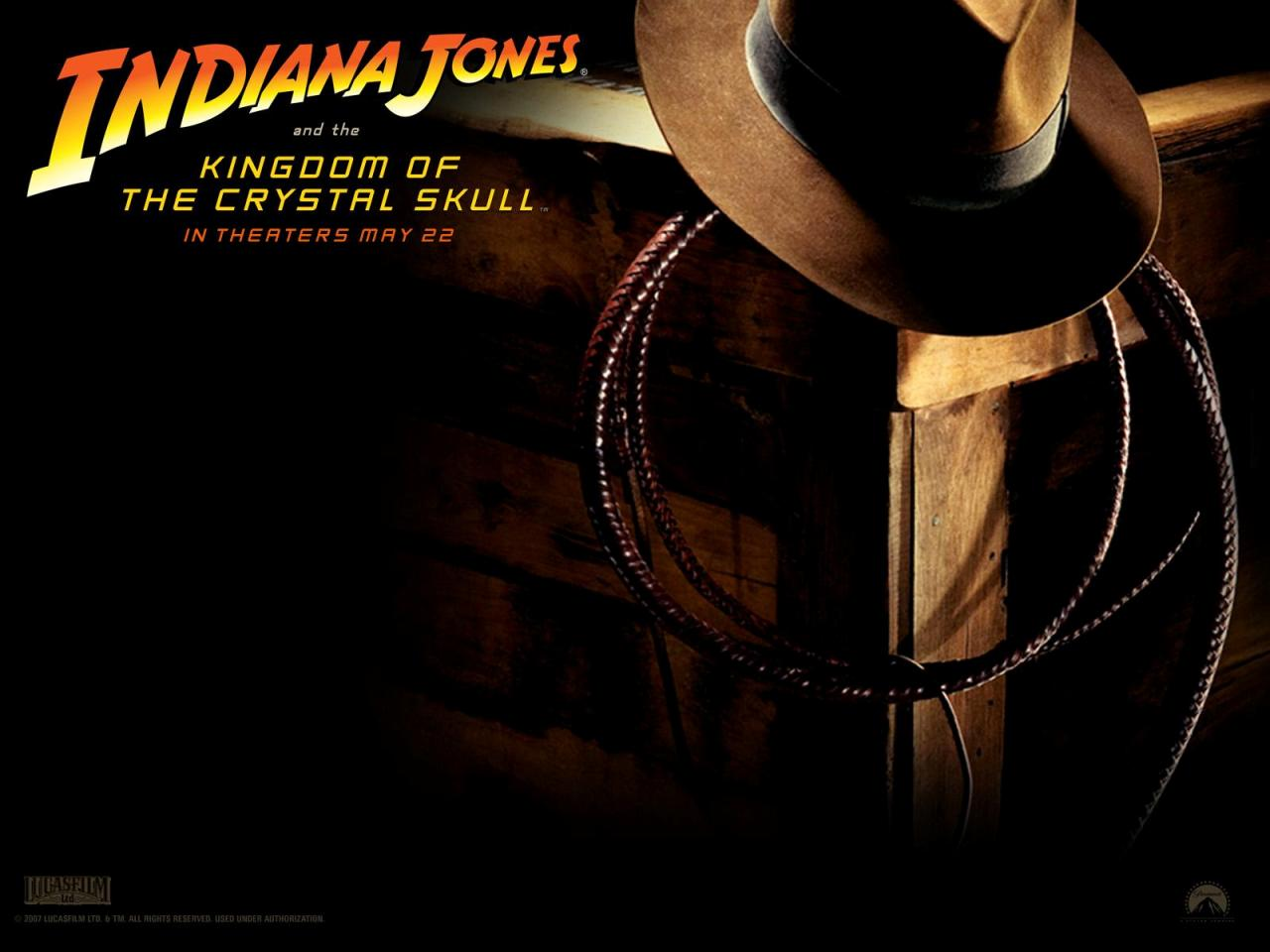 Indiana Jones 4 - Il Regno del Teschio di Cristallo - Kingdom of the Crystal Skull - Cappello e Lazzo - Hat and Lazzo - Sombrero y Lazzo