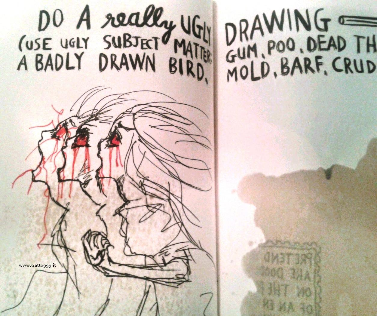 Wreck this journal di keri smith - ugly draw