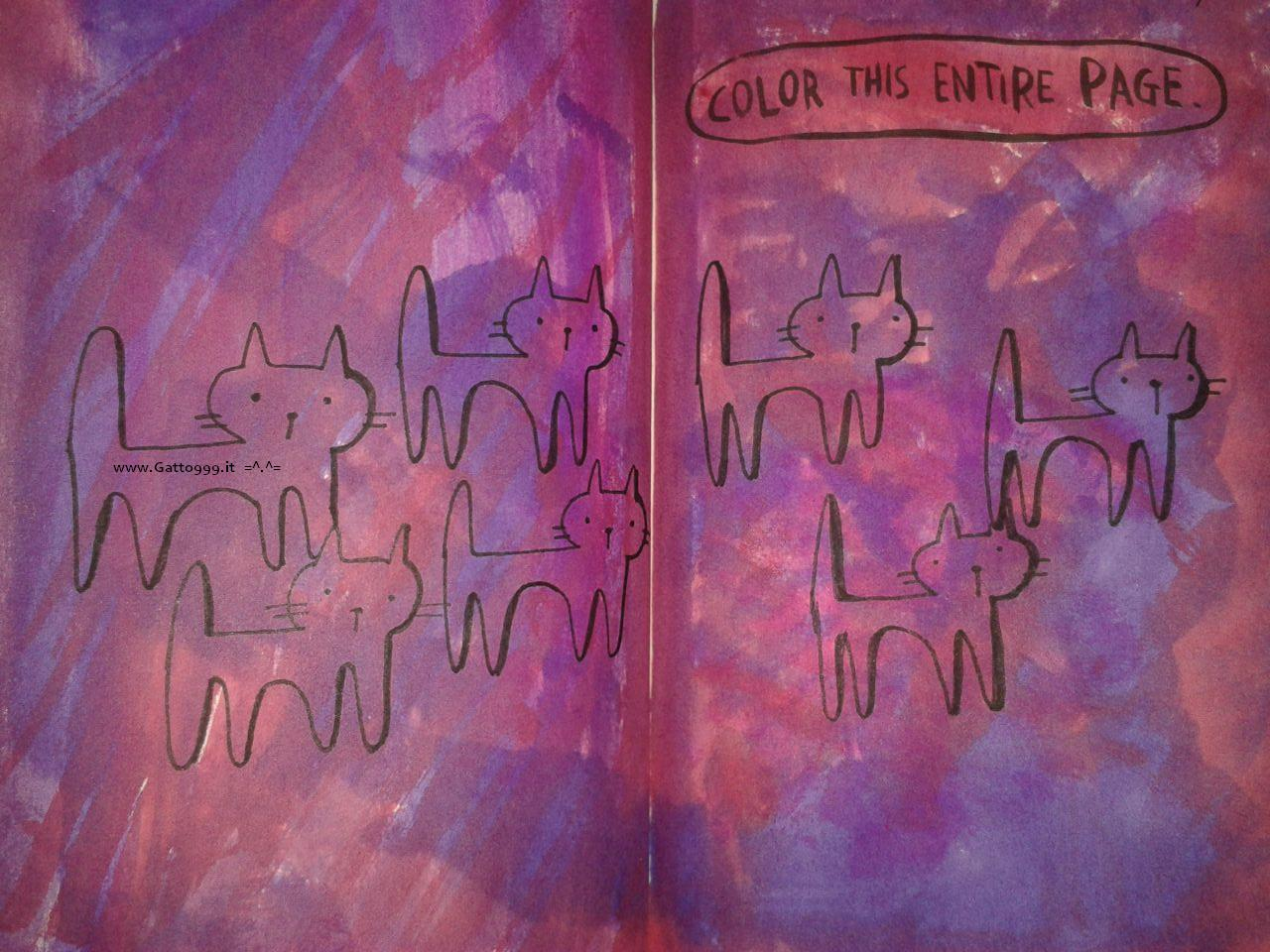 Wreck this journal - color this entire page by Gatto NineNineNine