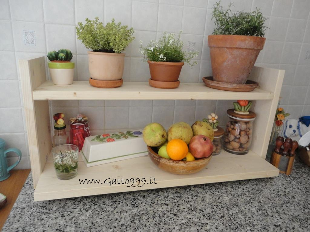 Mensole fai da te per la cucina idea creativa della casa - Mensole per cucina ...