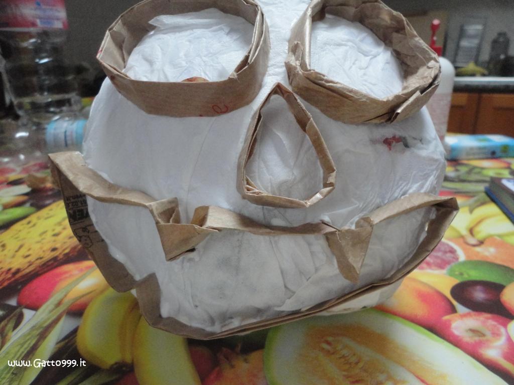Zucca Halloween Cartapesta.Cat Zucca Di Halloween In Cartapesta Fatta In Casa