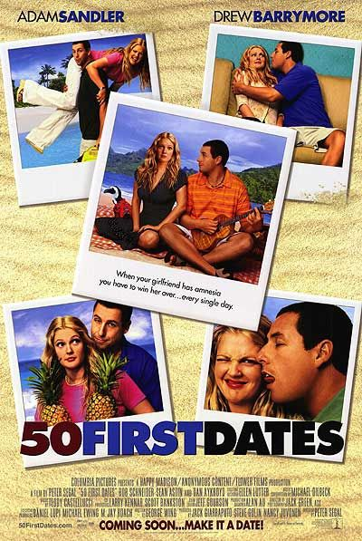 50 First Dates - 50 volte il primo Bacio - film poster fifty