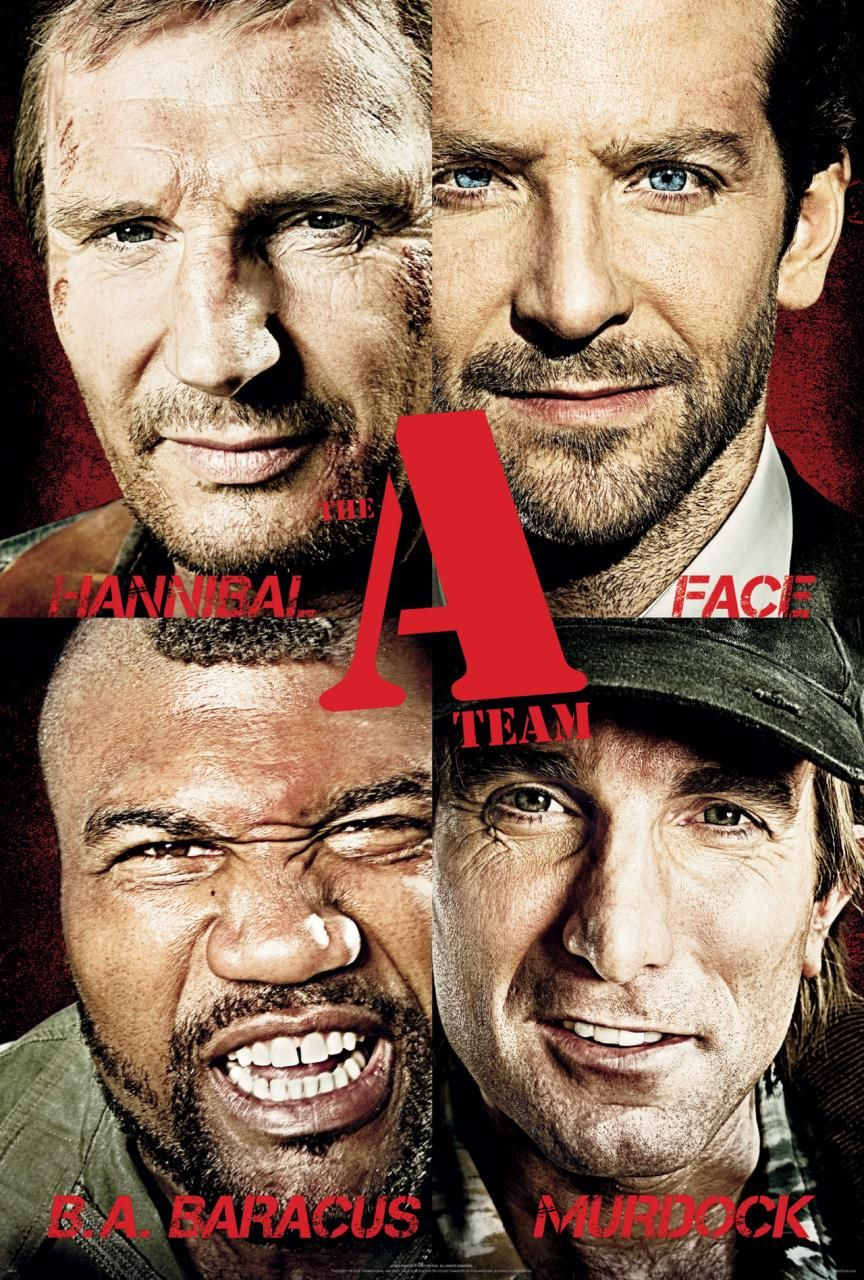 A Team (2010) Liam Neeson, Bradley Cooper, Jessica Biel, Sharlto Copley - poster collection