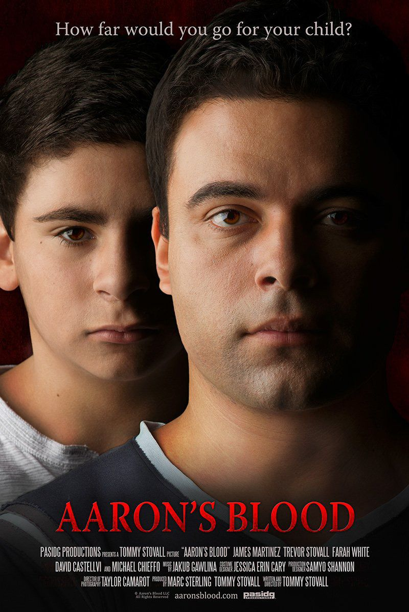 Aarons Blood - How far would you go for your child - film poster