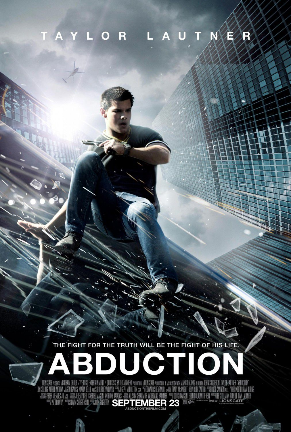 Abduction (2011) - Cast: Taylor Lautner, Lily Collins, Alfred Molina, Jason Isaacs - film poster