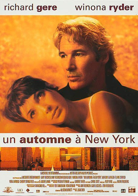 Autumn in New York - Cast: Richard Gere, Winona Ryder, Anthony LaPaglia, Elaine Stritch - love film poster