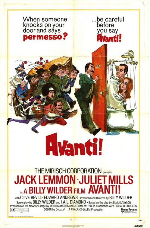Avanti (1972) - Cast: Jack Lemmon, Juliet Mills, Clive Revill, Edward Andrews - Film Poster