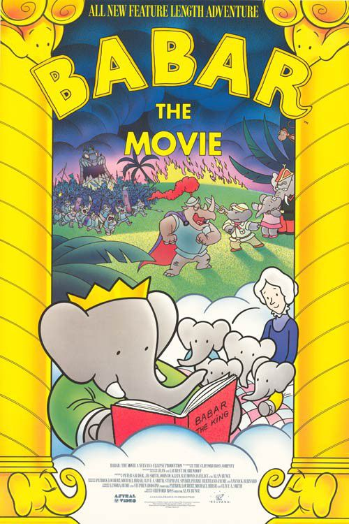 Babar the movie - animated cartoon film poster