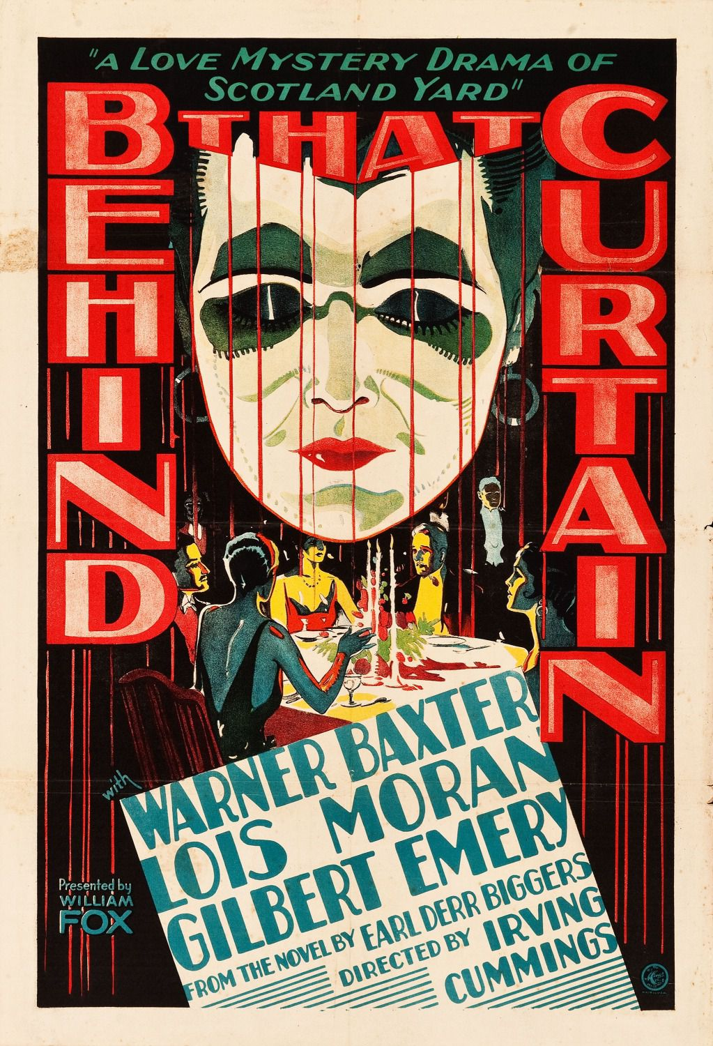 Behind that Curtain (1929) - Cast: Warner Baxter, Lois Moran, E.L. Park, Boris Karloff - film poster
