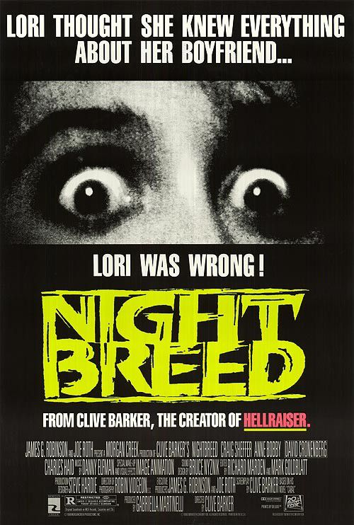 Cabal - Nightbreed (1990) - Fantasy Horror Film Poster