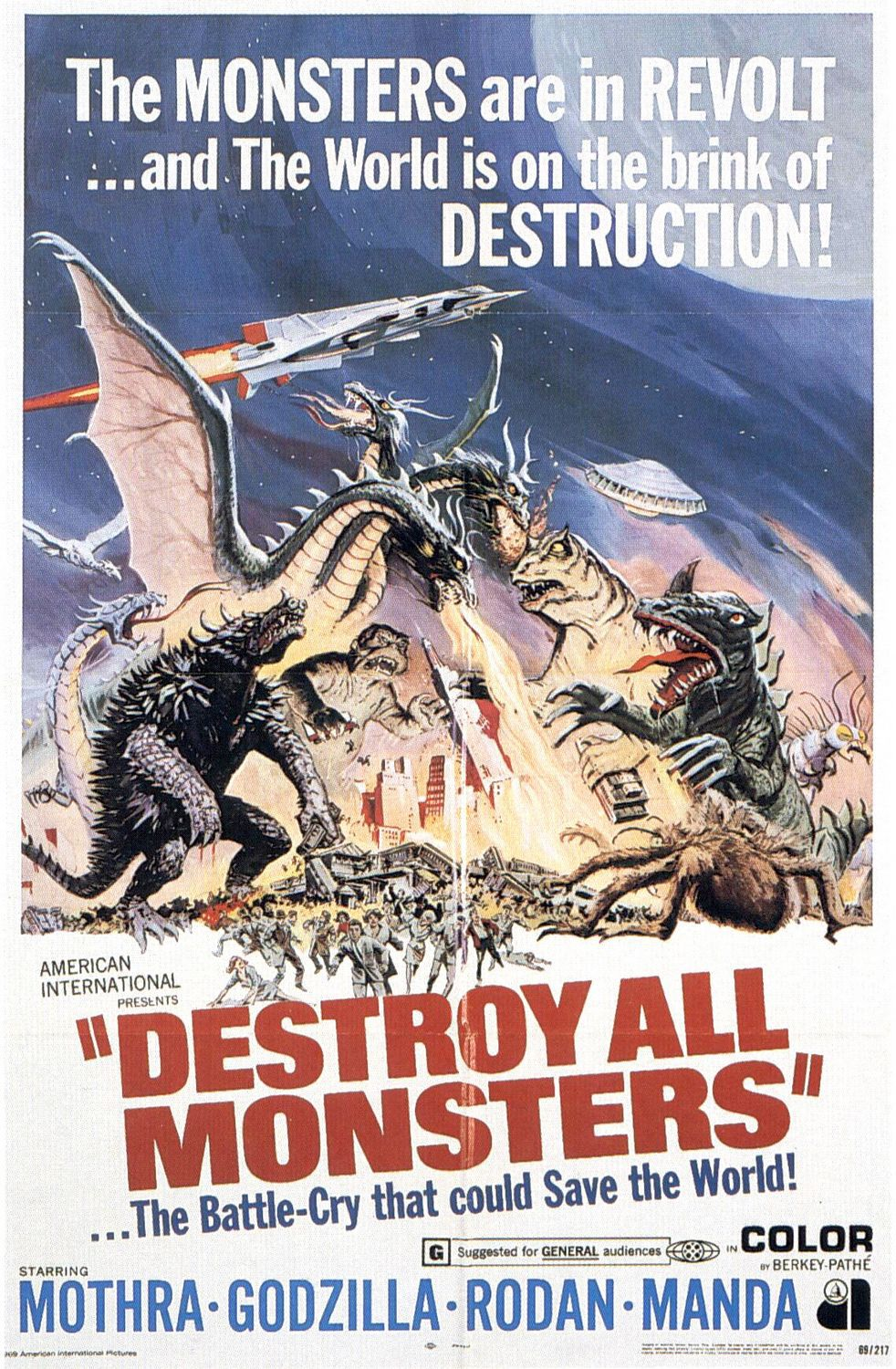 Destroy all Monsters - Distruggete i Mostri (1969) - special cult classic film poster