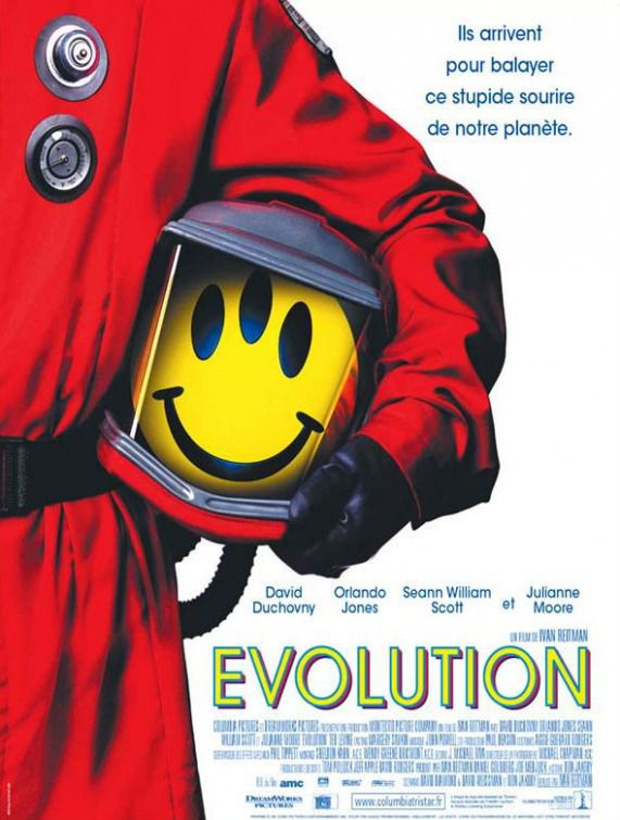 Evolution (2001) posters collection - red suit - red space outfit